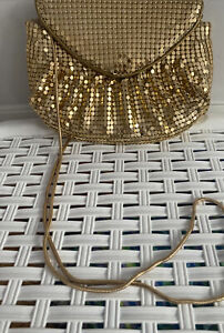 Debut Debenhams Classics Gold Sequin Goldstone Snake Chain Shoulder Evening Bag