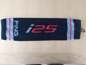 Rare PING i25 tri-fold golf towel with carabiner clip - brand new - 99p!