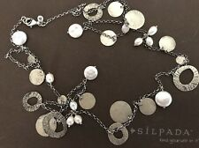"""Silpada Sterling Silver and Pearl """"Pearl of a Girl Necklace"""" N2197 36 inches"""