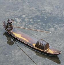 Fishing in river Ceramic Incense Burner Stick Holder Joss Insence Ash Catcher