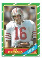 Joe Montana Football Card 1986 Topps #156 San Francisco 49ers HOFer