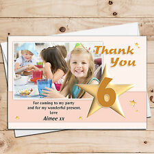 10 Personalised Birthday Girl Thank you Photo Cards N16 Any Age