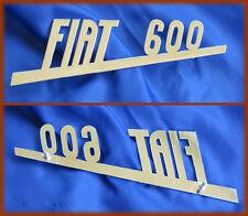 FIAT 600 / MULTIPLA - SCRITTA LOGO BADGE OTTONE CROMATO