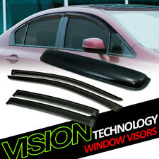 For 07-14 Sebring/200 Sedan Sun Rain Wind Window Visors+Moonroof Roof Deflector