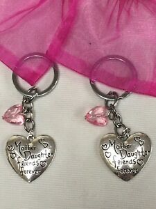 Mothers Day Gift 'Mother and Daughter friends forever' keyring gift, 9 colours