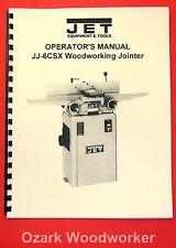 "JET JJ-6CSX JJ-6CSDX 6"" Jointer Instructions and Parts Owner's Manual 1075"