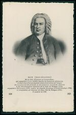 Jean Sebastien Bach Classic Music composer Germany original old c1910s postcard