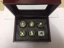 6pcs/set Boston Celtics Championship Rings Size 11 In wood Box