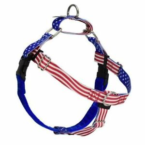 2Hounds Freedom No Pull Dog Harness Medium Star Spangled  WITH Training Leash!