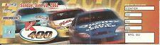 NASCAR 2001 KMart 400 Michigan Race Ticket Stub - Jeff Gordon Pole & Win