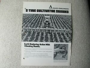 Allis-Chalmers S-Tine cultivator shanks specification sheet brochure