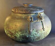 Enorme Chaudron Perse Safavide XVII Safavid persian cauldron Islamic Middle East