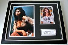 Sophia Loren SIGNED FRAMED Photo Autograph 16x12 display & Hollywood Film TV COA