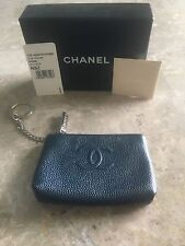 Chanel Key Chain Wallet Pouch in Caviar Leather
