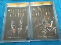 Batman/Aliens #1-2 set - DC - CGC SS 9.6 9.8 - Signed by Bernie Wrightson, Marz