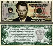 Bobby Kennedy Million Dollar Bill Collectible Fake Funny Money Novelty Note