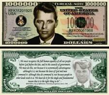 Bobby Kennedy Million Dollar Bill Fake Funny Money Novelty Note with FREE SLEEVE
