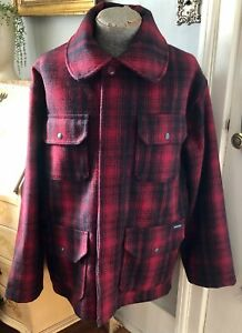 VINTAGE WOOLRICH PLAID HUNTING COAT SIZE LARGE