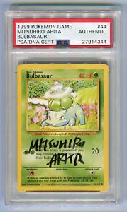 Mitsuhiro Artia Signature PSA DNA Cert Authentic Bulbasaur #44 Signed Pokemon