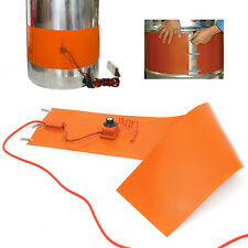 100L Oil Drum Heating Belt Silicon Rubber Band Heater 55-Gallon 1900W Us Stock