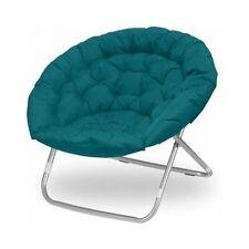 Oversized Moon Chair Teal Oval Living Room Dorm Furniture Teen Bedroom Folding