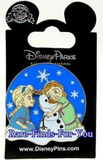 Disney Parks Frozen Young Princess Anna Elsa and Olaf Glitter Trading Pin (NEW)