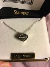 NIB 10K Harley Davidson Necklace White Gold chain And Charm With Diamonds