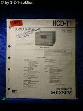Sony Service Manual TCD T1Digital Audio Tape Corder (#1067)