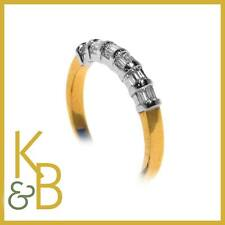 18ct Gold app .5ct 6 Stone Baguette Cut White Diamond RingRRP £1065 94391 SALE!!