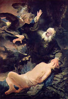 Dream-art Oil painting Rembrandt Netherlands Abraham and Isaac hand painted art