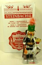 Steinbach German Wooden Nutcracker Chubby Smoker Steiger S 922 New