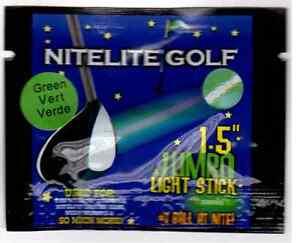 """50 Jumbo Lightsticks 1.5"""" for Nitelite Glow Golf Balls"""