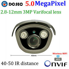 wireless 5mp 2592*1920P HD bullet waterproof cctv megapixel wifi ip camera onvif