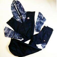Champion Women 2p set 100%AUTHENTIC size M half windbreaker and pants navy blue