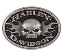 Harley-Davidson Men's Oval Roaring Flames Willie G Belt Buckle HDMBU11701