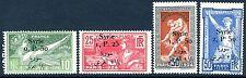SYRIE-JEUX OLYMPIQUES 1924 SG 139-142 Légèrement Monté Comme neuf V17261