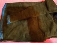 Uilleann bag cover Black Microsuede black/blue celtci knot trim