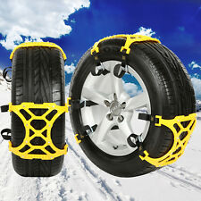 4PC Winter Truck Car Snow Chain Tire Anti-skid Belt Easy Installation New