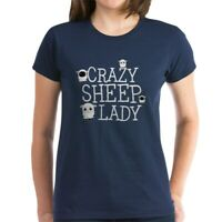 CafePress Crazy Sheep Lady T Shirt Women's Cotton T-Shirt (1483840727)