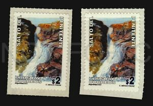 Waterfall water sports tourism Uruguay Penitente 2 different imprints variety