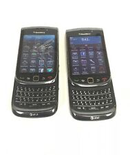 2 Lot At&T Blackberry Torch 9800 Qwerty World Phone Clean Imei See Description