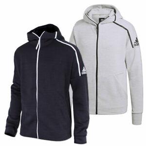 adidas Herren Jacke Sweatjacke Kapuzenjacke Hoody Kapuze 2XL 3XL schwarz grau