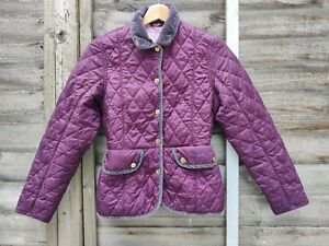 Barbour Quilted Jacket Burgundy 10-11 L