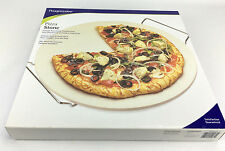 "New Progressive 15"" Pizza Stone with Metal Rack"