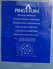 bas neuf vintage PINGOUIN TOPAZE voile noir sans jarretelles taille 1B