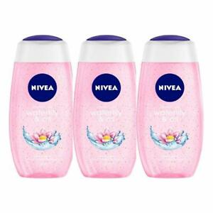 Nivea Waterlily and Oil Shower Gel, 250ml (Pack of 3) With Free Shipping