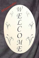Oval Welcome Sign Static Cling Window & Door Decal New 8X12 Decor for Glass