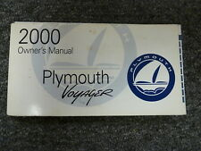 2000 Plymouth Voyager Minivan Owner Owner's Manual User Guide SE 3.0L 3.3L