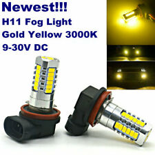 2x H11 Gold Yellow 3000K 27-LEDs Fog Light Bulbs|DRL|Cornering Lamp Replacement