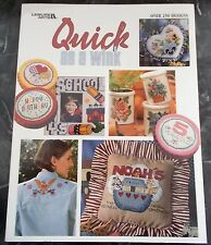 "LEISURE ARTS ""QUICK AS A WINK"" CROSS STITCH PATTERN BOOK - OVER 250 DESIGNS"